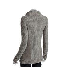 Leifsdottir - Gray Dusk Wool Hiding Place Cardigan Sweater - Lyst