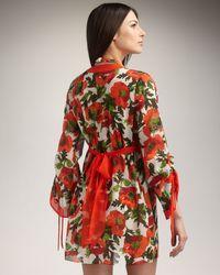 Milly   Orange Allesandra Tie-back Coverup   Lyst