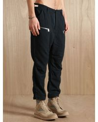 Nonnative - Black Mens Wool Blend Cropped Hunter Trousers for Men - Lyst