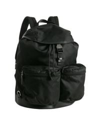 Prada | Black Nylon Pocket Detailed Backpack for Men | Lyst