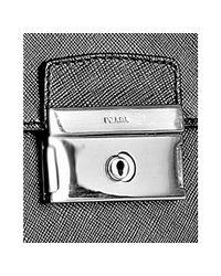 Prada | Black Saffiano Leather Attaché for Men | Lyst