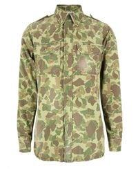 PRPS | Natural P58s08s3 Khaki Shirt for Men | Lyst