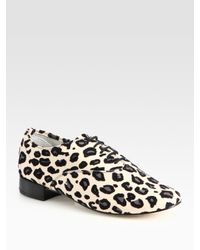 Repetto | Multicolor Zizi Leopard-print Leather Oxfords | Lyst