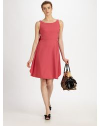 Valentino - Red Cotton Bow Dress - Lyst