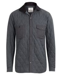 Barbour - Gray Moreston Charcoal Quilted Shirt for Men - Lyst