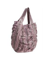 Beirn | Purple Lavender Snakeskin Jenna Ruched Top Handle Bag | Lyst