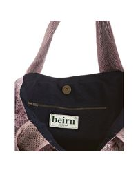 Beirn | Purple Lavender Snakeskin Jenna Ruched Top Handle Bag | Lyst