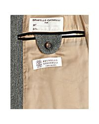 Brunello Cucinelli - Gray Grey Wool-cashmere Two-in-one Coat and Vest for Men - Lyst
