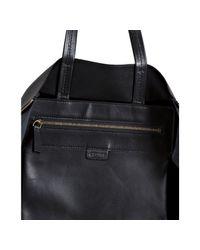 Céline | Black Leather Zipper Detail Tote | Lyst