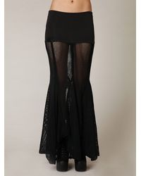 Free People | Black Fp-1 Mesh Maxi Skirt | Lyst