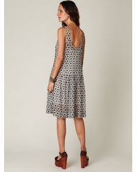 Free People | Black Sheer Tea Length Tank Dress | Lyst