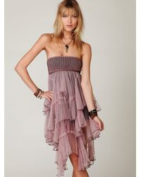 Free People | Pink Fp One Cascade Of Ruffles Slip | Lyst