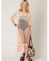 Free People | Pink Fp New Romantics Crochet Variety Dress | Lyst
