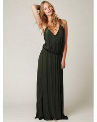 Free People - Green Complete Pleats Maxi Dress - Lyst