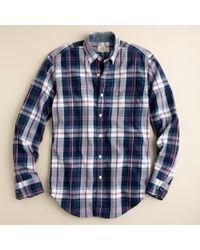 J.Crew | Blue Secret Wash Button-down Shirt in Torin Tartan for Men | Lyst