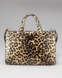 kate spade new york | Natural Brette Leopard-print Patent Leather Tote Bag | Lyst