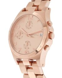 Marc Jacobs - Pink Henry Rose Gold Chronograph Watch Mbm3074 - Lyst