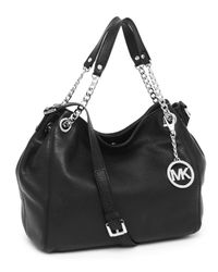 MICHAEL Michael Kors | Black Jet Set Chain Medium Shoulder Tote | Lyst