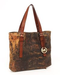 MICHAEL Michael Kors - Brown Extra Large Expandable Jessica Tote, Mocha - Lyst