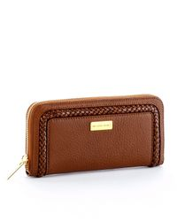 Michael Kors - Brown Skorpios Continental Wallet, Cinnamon - Lyst