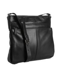 Prada | Black Leather Bandoleer Messenger Bag for Men | Lyst