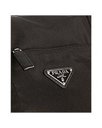 Prada - Black Nylon Gabardine Weekender Travel Bag for Men - Lyst