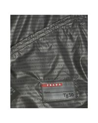 Prada - Sport Black Nylon Windbreaker Jacket for Men - Lyst