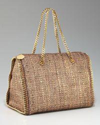 Stella McCartney   Metallic Falabella Boston Bag, Gold   Lyst