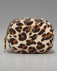 Tory Burch | Multicolor Robinson Leopard-print Cosmetic Case | Lyst