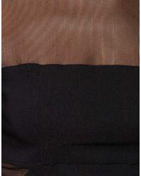 ASOS Collection - Black Asos Petite Mesh Panel Open Back Dress - Lyst