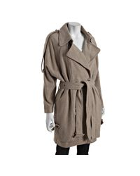 Eryn Brinie | Natural Tan Melange Wool Blend Trench Peacoat | Lyst