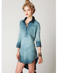 Free People | Blue Goldbergs Tunic | Lyst