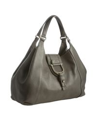 Gucci | Gray Grey Leather Greenwich Medium Shoulder Bag | Lyst