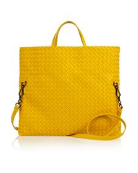 Bottega Veneta | Yellow Intrecciato Leather Tote | Lyst