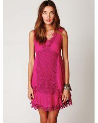 Free People - Pink Crafty Beauty Dress - Lyst