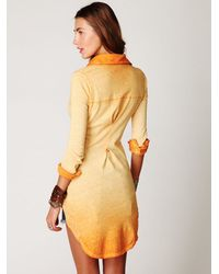 Free People | Orange Goldbergs Tunic | Lyst