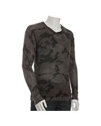 Marc By Marc Jacobs | Gray Dolphin Grey Camo Print Cashmere Blend Sweater for Men | Lyst
