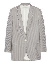 Stella McCartney | Blue Striped Cotton-seersucker Blazer | Lyst