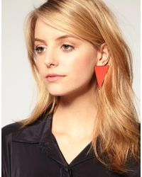 ASOS Collection | Yellow Asos Triangle Stud Earrings | Lyst