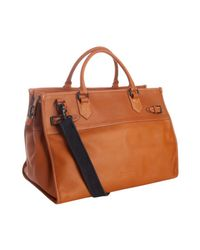 Ben Minkoff - Light Brown Luggage Leather Michael Weekend Bag for Men - Lyst