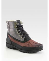 Cole Haan   Purple Air Rhone Quilted Waterproof Boots for Men   Lyst