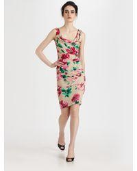 Dolce & Gabbana - Natural Floral Silk Dress - Lyst