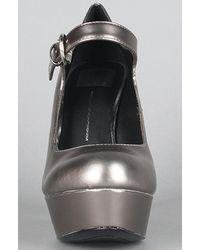 Dolce Vita | Metallic The Brill Shoe in Dark Silver | Lyst