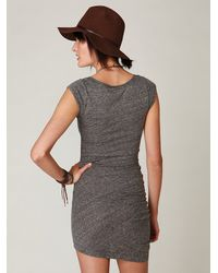 Free People - Gray Side Ruched Tunic - Lyst
