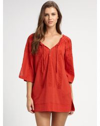 Joie | Tesha Embroidered Coverup | Lyst