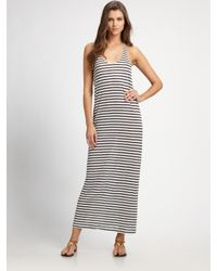 Joie | Blue Striped Linen Maxi Dress | Lyst