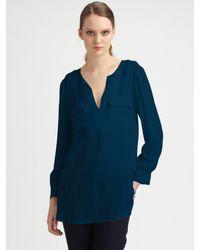 Joie | Blue Marlo Silk Top | Lyst