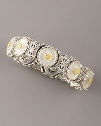 Konstantino | White Carved Floral Bracelet, Medium | Lyst