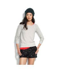Madewell   Gray Windward Pullover Sweater   Lyst