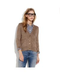 Madewell | Brown First Frost Sparkle Cardigan | Lyst